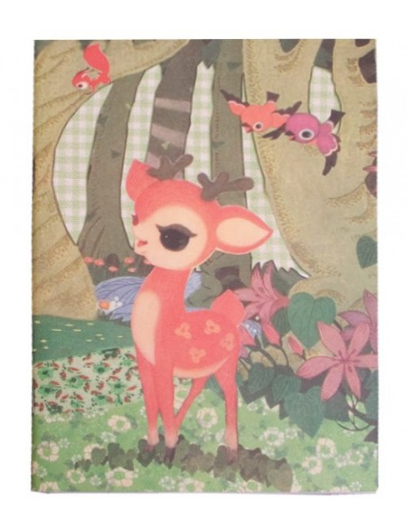 froy & dind cahier d'écolier vintage faon
