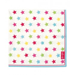 Greengate - 20 Paper Napkins - Star multicolour