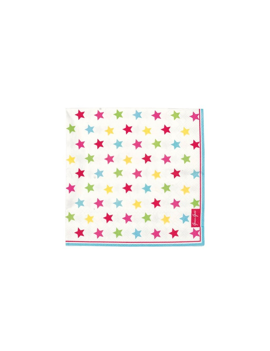 Greengate - Serviettes en papier Star Multi (x 20)