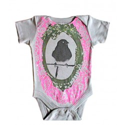 SHIRIN KIDS - Bird Onesie - organic dark grey
