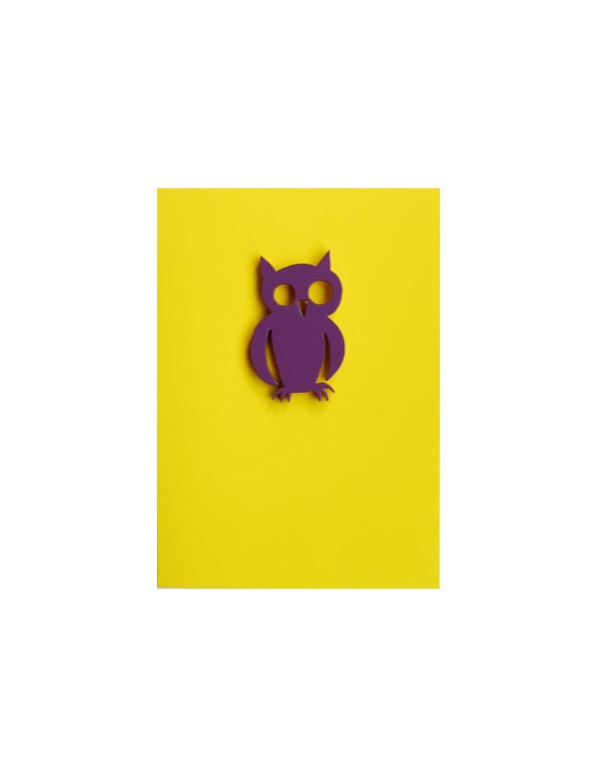 """Carte avec magnet """"Owl"""""""