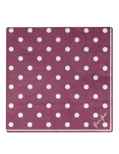 Greengate - 20 Paper Napkins - Naomie Plum