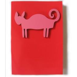 "Carte avec magnet ""Cat"""