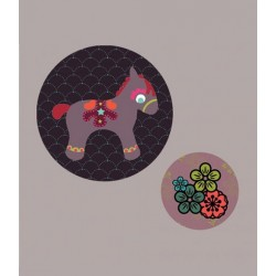 Georges&Rosalie - Set of 2 badges Poney