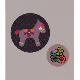 Georges&Rosalie - Set de 2 Badges Poney