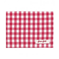 Greengate - Oda Raspberry Tea Towel