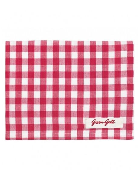 Greengate - Oda Raspberry Tea Towel
