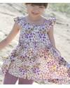 whip cream print parm floral dress