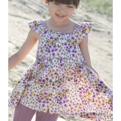 whip cream print parm floral dress