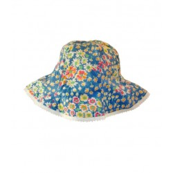 chapeau enfant réversible à fleurs whip cream