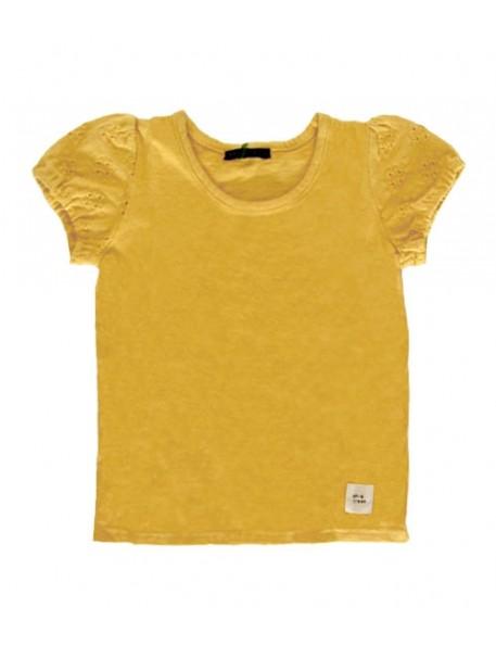 3A - WHIP CREAM T-Shirt Moutarde Manches Ballons