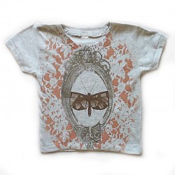 Shirin tee with butterfly and mirror prints