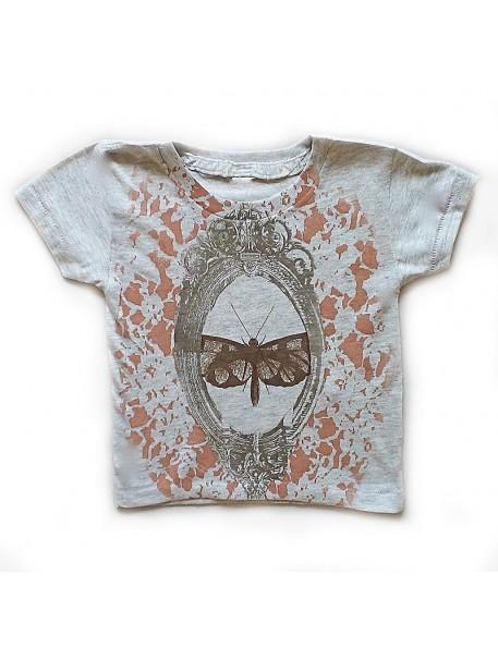shirin kids t-shirt fille bio papillon et miroir