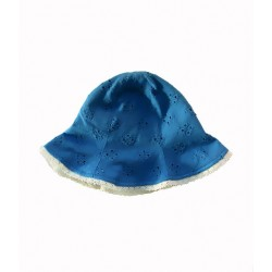 whip cream reversible hat - blue