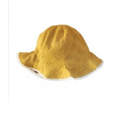 whip cream reversible hat - mustard