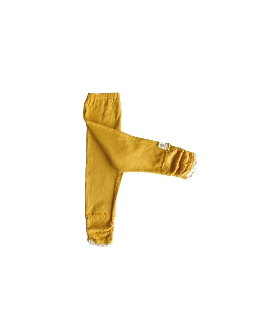 WHIP CREAM - Leggings Pants - Mustard