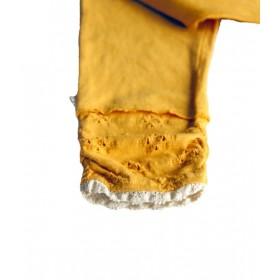 6y- whip cream leggings pants - mustard