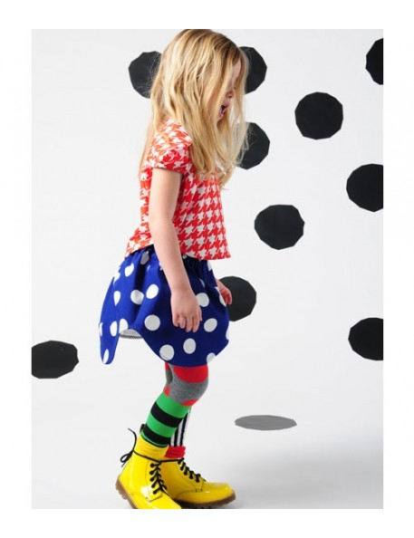 4y -bodebo pippaless skirt - white dots/strong blue