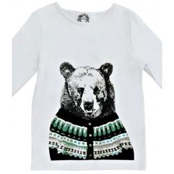 4a - little paul&joe t-shirt garçon ours rolph