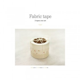 Japanese Fabric tape - Set of 3 Rolls - Tiny