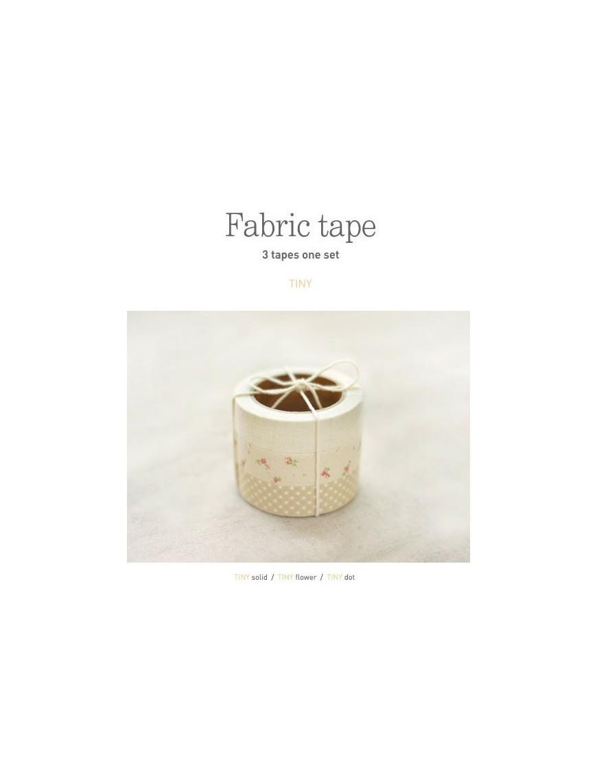 Fabric Tape - Set de 3 Rouleaux d'Adhésifs en Tissu - Haze
