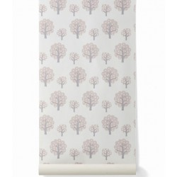 FERM LIVING Dotty pink Wallpaper