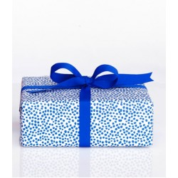Darling Clementine Papier cadeau Harvest blue dots