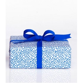 Darling Clementine - Harvest Gift Wrap Blue Dots