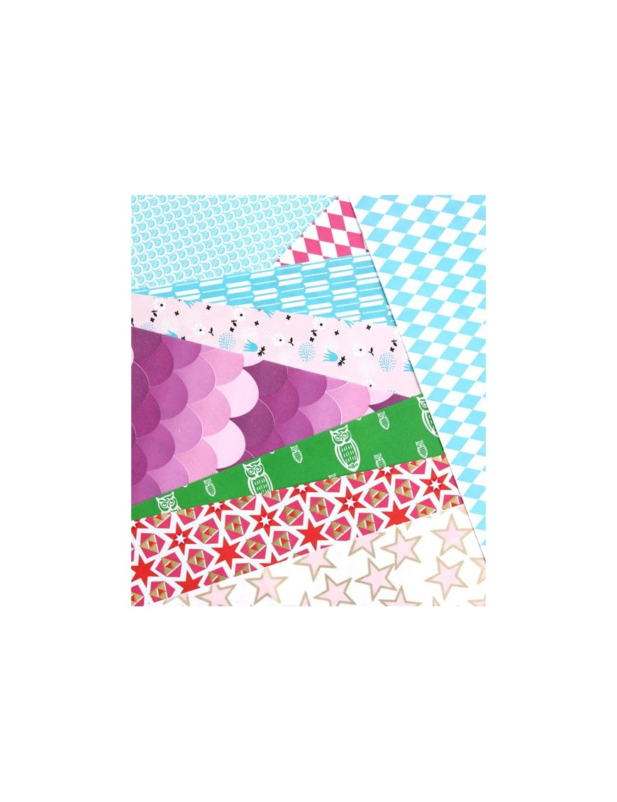 Rie Elise Larsen - 10 Feuilles de Papier Cadeau -serie 7
