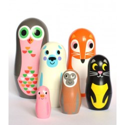 Ingela P Arrhenius - poupées russes matrioshka animals 'vers.2) - OMM DESIGN