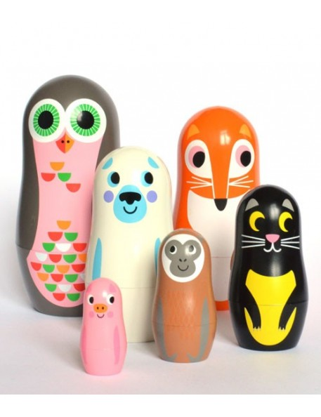 omm design animals nesting doll vers.2 by ingela p arrhenius