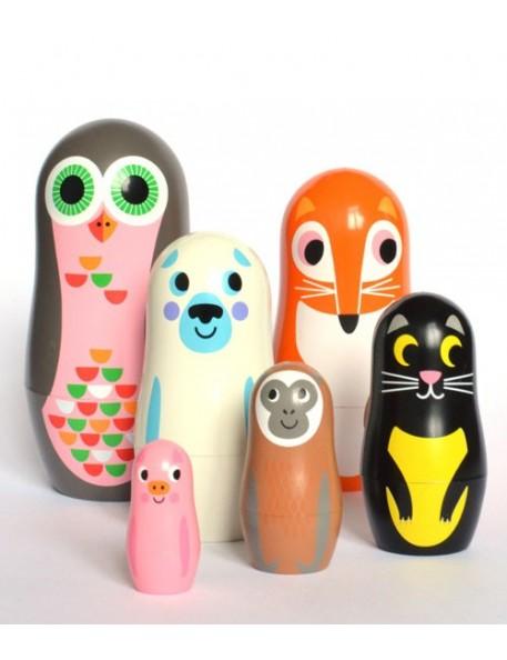 poupées russes matrioshka animaux 2 Ingela p Arrhenius