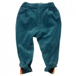 pantalon velours jodhpur bleu pétrole franky grow