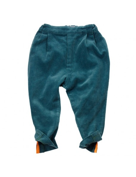 FRANKY GROW - Petrol Green Corduroy Pants