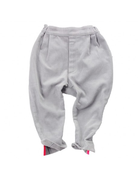 pantalon velours jodhpur gris clair franky grow