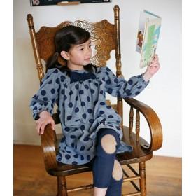 6a - robe manche longue à pois avec noeud dottie misha lulu