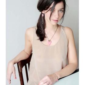 """Armêl s'en mêle - Necklace with leafs """"Kiss Me"""" - vers.2"""