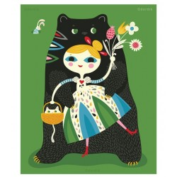 Helen Dardik - Goldie and the Bear Hugs Print - A4