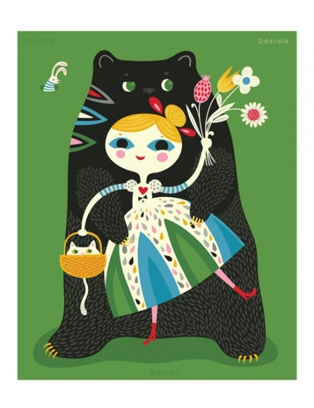 Helen Dardik - Affiche Goldie and the Bear Hugs - A4