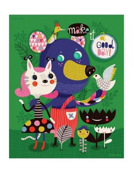 "Helen Dardik - Affiche ""A Good Day"" (21,5 x28 cm)"