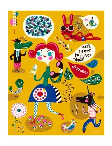 Helen Dardik - Affiche Awesome - A4