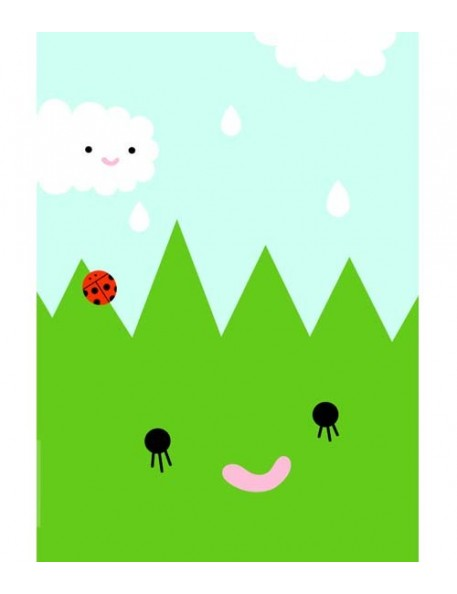 "Noodoll print""Happy grass"""
