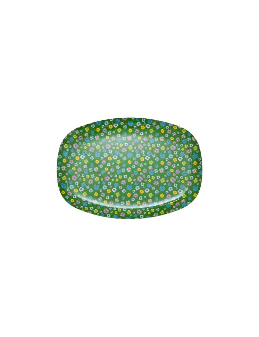 RICE - Melamine Cup Two Tone Green with Multicoloured Flowers