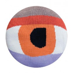LUCKYBOYSUNDAY - Coussin Pretty Eye Chair Pillow - orange