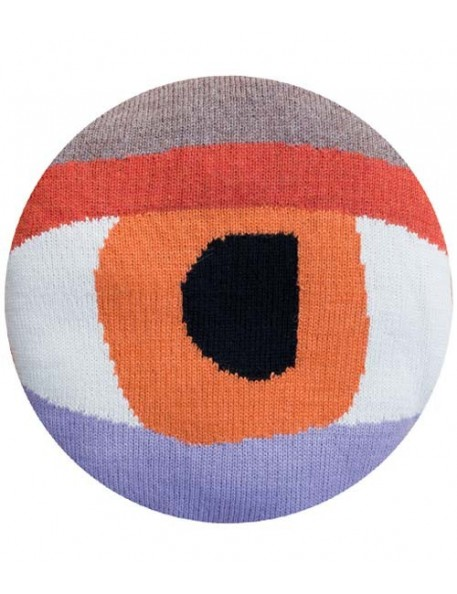 LUCKYBOYSUNDAY Coussin Pretty Eye Chair Pillow - orange