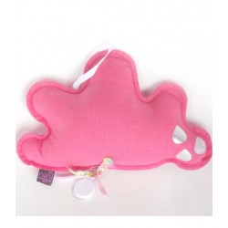 NiNi La Duchesse - Cloud Music Box in bright pink linen