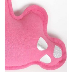 NiNi La Duchesse - Cloud Music Box in bright pink linen