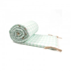 Nobodinoz | baby cot bumper: green diamonds