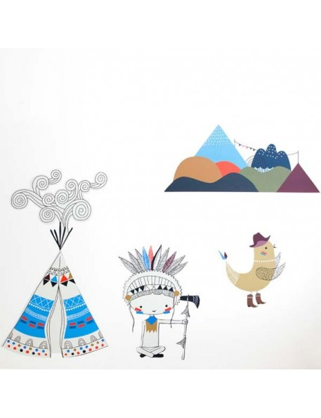 Swantje & Frieda - Stickers Tipi - format A3