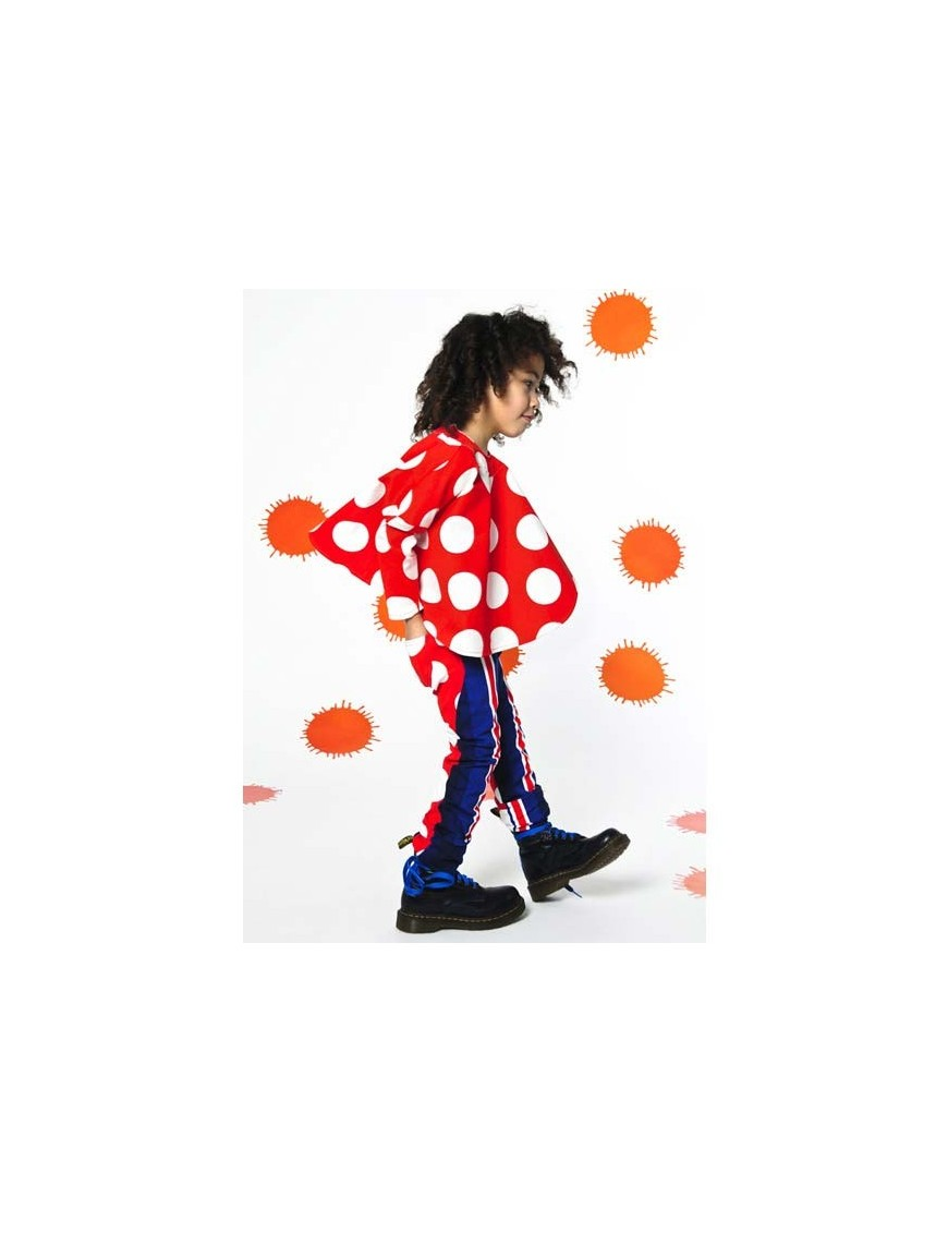 BODEBO - Bert SHIRT with white dots on red